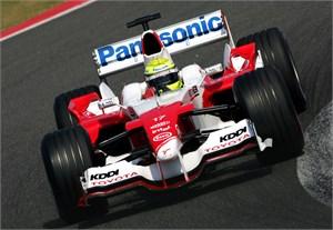 F1-demonstratie 900 pk Toyota V10